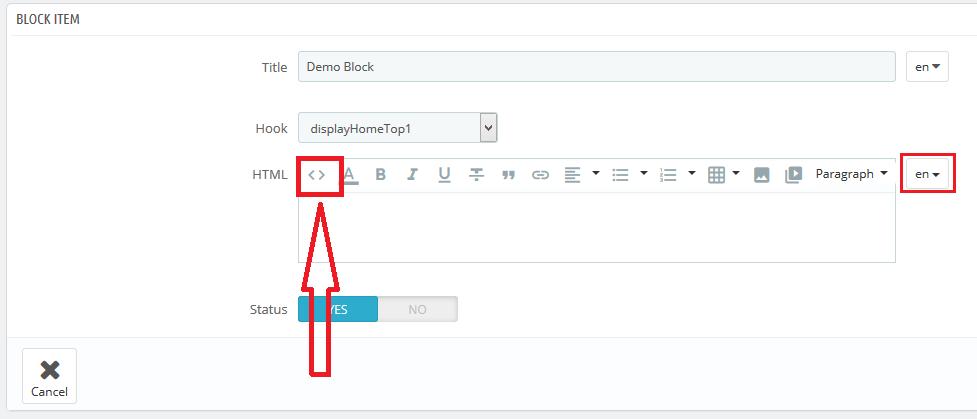 Edit Html in Static Block